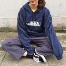Adidas navy logo hoodie