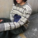Snow pattern gray knit