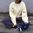Polo pastel yellow one point sweat