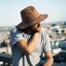 YELLOW108/イエローワンオーエイト【YAE-HLF-BRN】メンズ&レディース Helm Fedora ヘルムフェドラ-Brown ブラウン カラー コットンハット