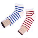 Rototo/ロトト【R1023】コットン マリンボーダー ソックス 靴下-メンズ&レディース 日本製 MARINE BRODER SOCKS