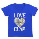(CLAP)  DIA  HEART  Tee ブルー