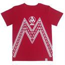 (Marble) ユニセックス Tシャツ(レッド)
