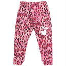 (CLAP)  PINK  LEO  CROPPED  PANTS
