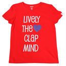 (CLAP)  LIVELY  THE  CLAP  MIND  Tee  レッド