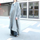 UT181OP043 リネンチェック ボリュームシャツドレス