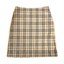 【BURBERRY】CHECK TIGHT SKIRT