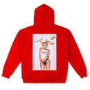 【KYLIE 】PHOTO PRINT HOODIE red