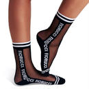 【FUN X FIORUCCI】WOMAN SHEER SOCKS black