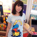 パックマン Arcade Comic`s Tunique T-Shirt  (Sky Blue)