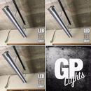 3台セット【GR-2LSD】1灯笠付き LEDライト  つや消しグレー ダクトレール用