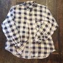 [USED] ブロックチェック柄ネルシャツ