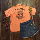 [USED] オレンジ色のレーヨンシャツ