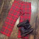 [USED] 赤いタータンチェック柄パンツ