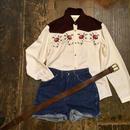[USED] FLOWER刺繍 ウエスタンシャツ