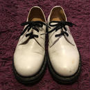[USED] Dr.Martens WHITEレザー/3HOLE