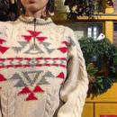 [USED] かわいい柄のハーフジップセーター
