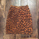 [USED]Real leather レオパード柄スカート