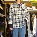 [USED] ブルーチェック柄ネルシャツ