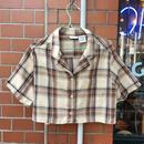 [USED] ショート丈 サラサラシャツ