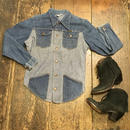 [USED] OLD Wrangler パッチワークデニムシャツ