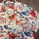 [USED] レーヨンのドラゴンシャツ