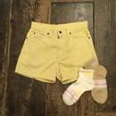 [USED] 70's Levi's  Pastel Yellow Corduroy Shorts