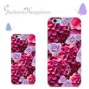 スマホケースAICA-13 アジサイ×ローズ iPhone5/5s/5c/6/6s/Android