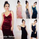 DressUpベルベットドレス/ワンピース 6色