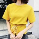 ウエストレースアップTシャツ 4色 118