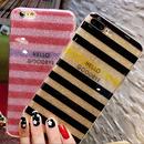 キラキラシャイニーボーダー 選べる2色 iphoneケース
