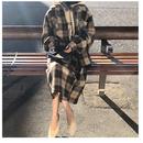 グレンチェックオーバーサイズシャツ&スカートセットアップ