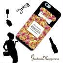 スマホケースAICA-24 ローズシャワーパルファン ブラック iPhone5/5s/5c/6/6s/Android
