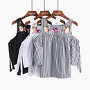 【在庫あり】選べる6Color刺繍オフショルダーコットントップス