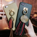 タッセルチャーム付き ヘリンボーン iPhoneケース 2color118