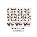 【単品】PUPPY MIU転写紙/パターン/チョコ×クリーム