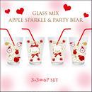 【セット割引★新商品ガラス用★2種6枚セット】PartyBear3枚+AppleSparkle3枚