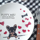 【単品】PUPPY MIU転写紙/フェイス/ブラック×シナモン¥1280→