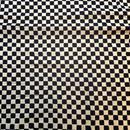 木版更紗#003(黒白格子)
