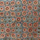 木版更紗#031(アジュラック、Kanavari kharek jhini、藍)