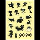 黒猫ガジヲ:透明ミニステッカー