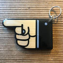 "GEE ORIGINAL KEYHOLDER  ""HAND SIGN"""