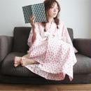 【COME BACK】10秒で着られる浴衣 & 帯2点セット / Cat ホワイト×ピンク