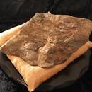 霊峰の石・約16cm(木製丸型足つき飾り台24×6.3cm・金座布団付き)