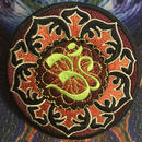 Ohm mandala iron on patch