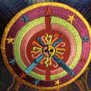 Stars and medusa sun iron on patch