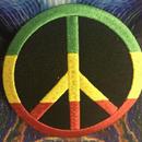 Rasta peace iron on patch