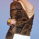 """crocket knit cache-coeur""JUN MIKAMI"