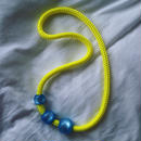 florian necklace  neonyellow  & blue