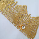 Smaller bracelets antique,vintage and new textile [gold]